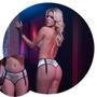 Culotte Con Portaligas Dorado Sexy Lenceria Erotica Femenina
