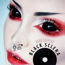 Black Sclera (¡precio Por Par!) Lentes De Contacto 22mm
