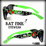 Anteojos Rat Fink Pintados Custom Rat Hot Rod Kustom Kulture