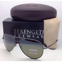 Lente Serengeti Aviator Medium 7190 Gunmetal 555 Polarizado