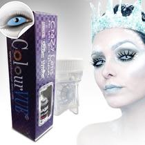 Lentes De Contacto Athena Blue Sclera 22mm+estuche De Regalo