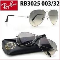 Ray Ban Aviator 003/32 Silver Grey Gradient!!!