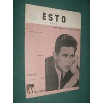Partitura Leo Dan Esto Rock Letra Musica Melograf Cbs