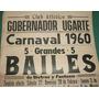 Afiche Criollo Bailes Carnaval 1960 - Club Atletico Ugarte