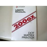 Manual De Usuario De Citizen 200 Gx - Zona Norte - Martinez