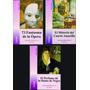 G. Leroux Lote X 3 Libros El Fantasma De La Ópera Nuevos
