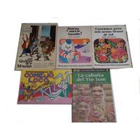 Lote 5 Libros Cuentos Malinow Saavedra Tio Tom Don Quijote