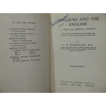 Libreriaweb England And The English By C. E. Eckersley