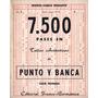 Revista Monte Carlo Punto Y Banca - 7.500 Pases