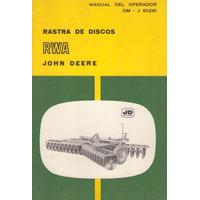 Libro / John Deere / Rastra De Discos Rwa / Om - J 50261