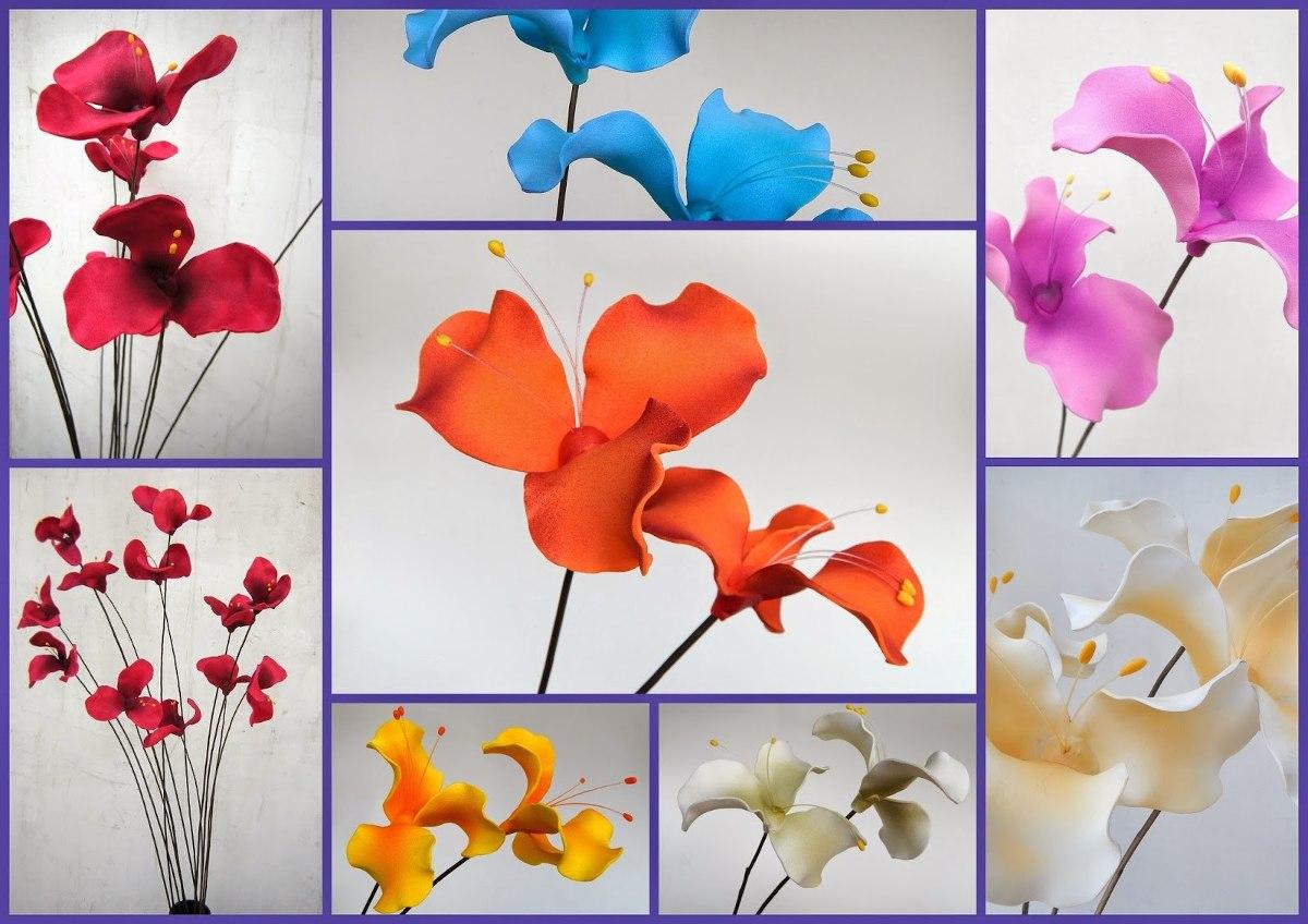Lilios Ramos De Mimbre Con 12 Flores Foami En 2 Alturas - $ 160,00 ...