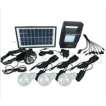 Kit Solar Portátil Panel Lampara Linterna Reflector Cargador