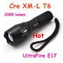 Linterna Táctica Ultrafire 2000 Lúmenes Cree Xml T6 E17 Zoom
