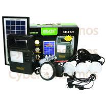 Linterna Portatil Recargable Con Panel Solar + Accesorios