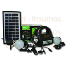 Linterna Portatil Recargable Panel Solar + Mp3 Accesorios