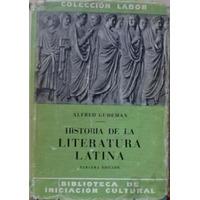 Historia De La Literatura Latina - Alfred Gudeman