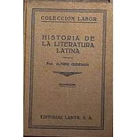 Gudeman Alfred / Historia De La Literatura Latina / 1930