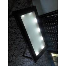 Mesa Ratona Luminosa De Madera Y Vidrio Modelo Ci1