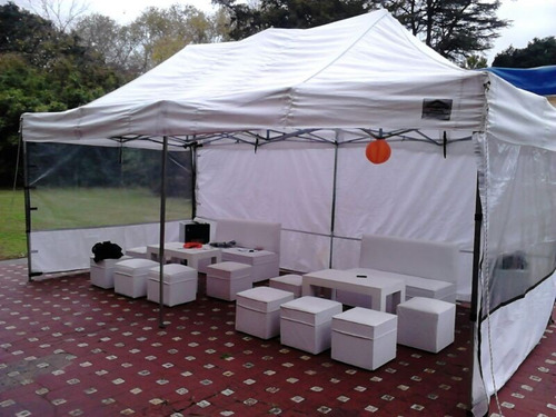 Livings Eventos Fiestas Puff Mesas Gacebos Sillas Carpas!!!