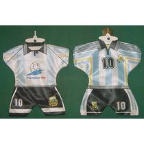 Dos Camisetas Auto Futbol Seleccion Argentina Francia 1998
