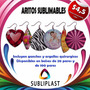 Aros Sublimables Aritos - Sublimacion - 20 Pares Subliplast