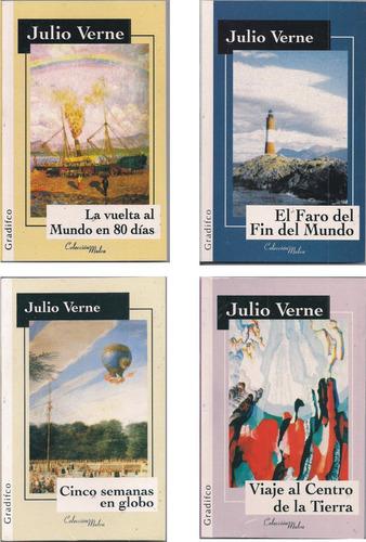 Lote X 4 Libros Julio Verne - Ed Gradifco - Nuevos