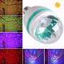 Lampara De Led Rgb Giratoria Convertite En Dj Luces Led Bola