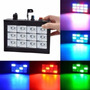 Flash Led Audioritmico Rgb O Blanco 12 Leds Dj Strobe Luz