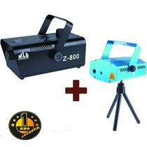 Combo Máquina De Humo Z800 + Láser Lluvia Puntos 1año Gtia