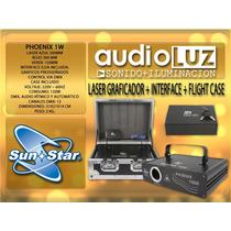 Laser Rgb 1w Sunstar Phoenix Graficador + Interface Outlet