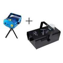 Combo Maquina De Humo + Laser Lluvia Audioritmico Luces Dj