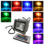 Reflector Led Rgb Exterior 20w 16 Colores + Blanco