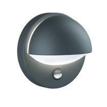 Aplique Exterior Philips Reno Gris Oscuro C/sensor Luz Y Mov