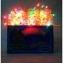 Luz De Navidad Arroz X100 Multicol Cable Transparente Caja