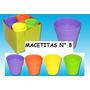 Macetitas Colores N 8 X 50 U Captus Crasas Organico Semilla