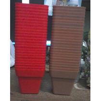 Lote De Macetas Plastico N 8 Piramidal X 48 Unid. Cordoba Ca