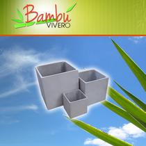 Maceta Fibrocemento Cubo 40x40x40 Somos Fabricantes