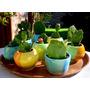 Mini Maceta X Mayor Ceramica Ideal Souvenir Cactus Suculenta