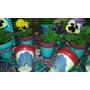 Macetas Decoradas Pintadas A Mano Nro 10 Con Plantin