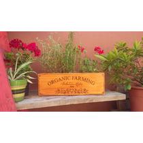 Maceta Jardinera Madera Vintage Aromaticas