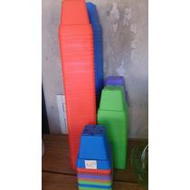 Macetas Cuadradas De Colores 6x6