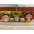 Macetas Pintadas Frida Kahlo