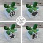 Maceta De Cemento Cubo 8x8 Deco + Planta Suculenta Crasa