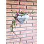 Maceta Cemento Colgante - Diseño Minimalista Origianal