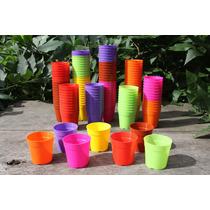 Macetas Redondas Plásticas Nº6 En Varios Colores Por Mayor