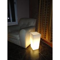 Porta Maceta Iluminada Con Luz Blanca De 48cm Alto X 24 X 24