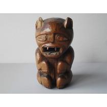 Talla Madera Idolillo Representando Gato