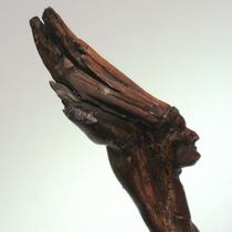 Talla Madera Raíz Figura Indio Patagonia Firmada Trotta 91
