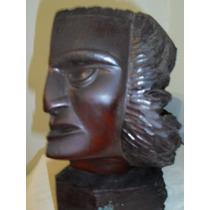 Escultura En Madera De E. Brecska - Año 1946