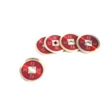 Monedas Chinas Bronce (rojo, Set De 4 + Cascarilla)